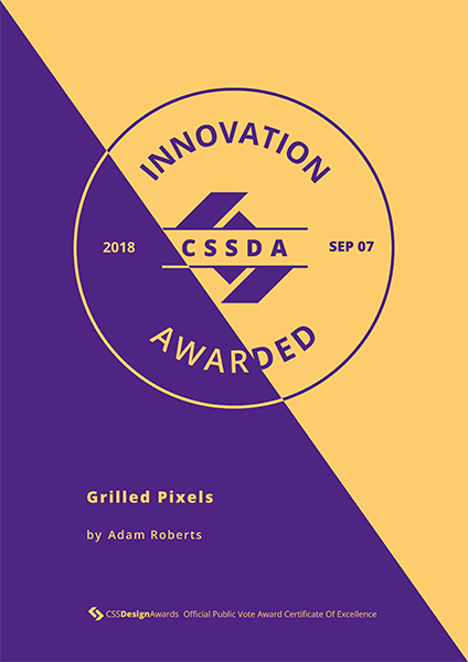 CSSDA - Best Innovation 2018 - Grilled Pixels